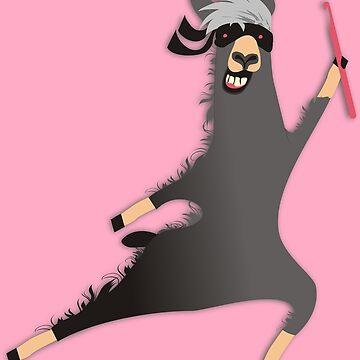 Funny llama ninja crochet hook by BigMRanch