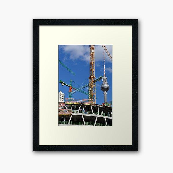 Baustelle Framed Art Print