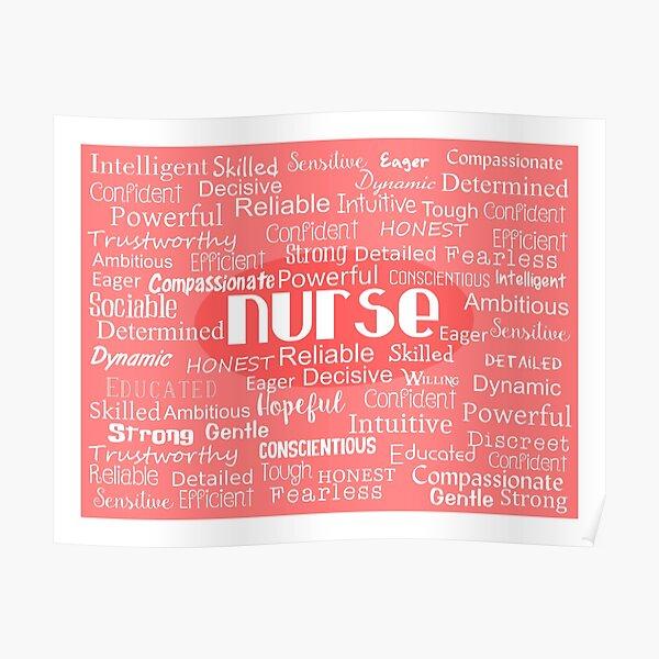 Nurse Adjectives Poster