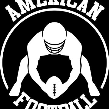 American football player with ball and helmet by MegaSitioDesign