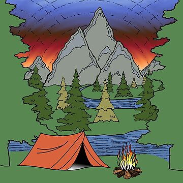 Camping Illustration | Camp Life by Gringoface