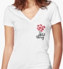 Wild Thing Women's Fitted V-Neck T-Shirt