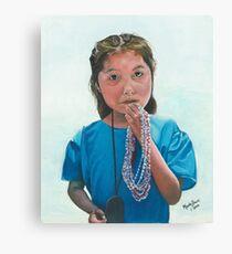 Expolitation/Oil on canvas Canvas Print