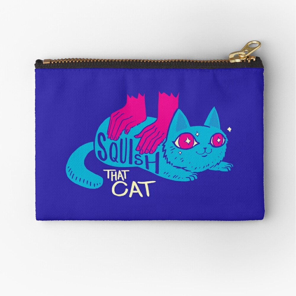 Squish that Cat! Zipper Pouch