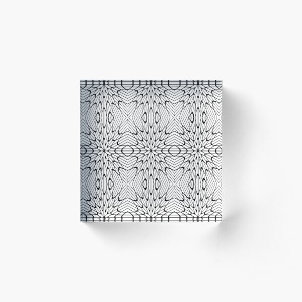 pattern, design, tracery, weave, decoration, motif, marking, ornament, ornamentation, #pattern, #design, #tracery, #weave, #decoration, #motif, #marking, #ornament, #ornamentation Acrylic Block