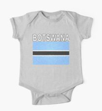 Botswana Flag Stained Glass Effect National Design One Piece - Short Sleeve