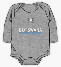 Botswana Flag and Coat of Arms Sport National Design One Piece - Long Sleeve