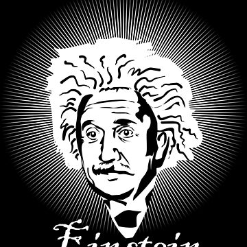Albert Einstein caricature on a white glow by MegaSitioDesign
