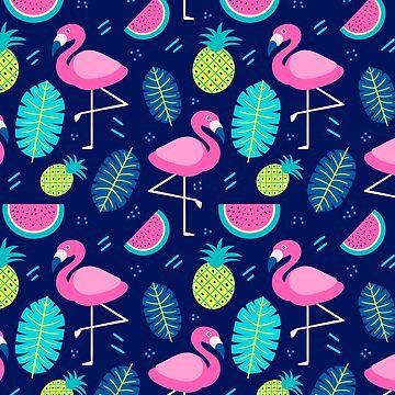 Flamingo Pattern by nkmanju