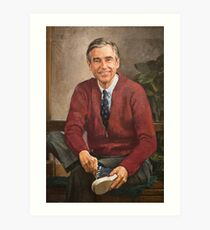 Mr Rogers Painting Art Print
