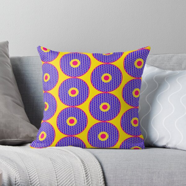 African Inspired Print Throw Pillow