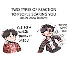BTS: TYPES OF REACTIONS TO PEOPLE SCARING YOU by randomsplashes