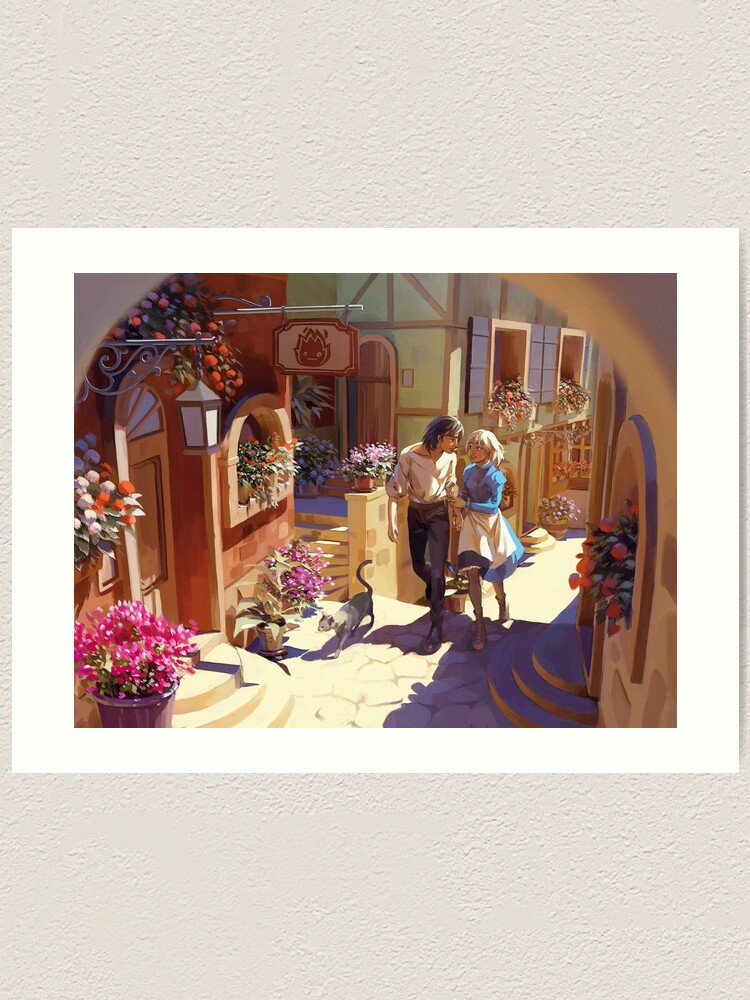 Alternate view of Howl's Moving Castle Art Print