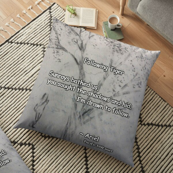 Following Tiger poem Floor Pillow