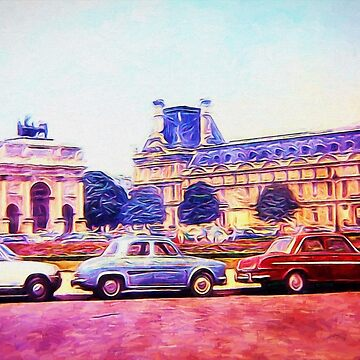Parking Outside The Museum in Paris 1973 by bloomingvine