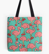 Flamingo with red boot Tote Bag