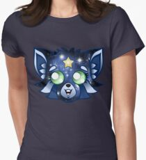 Celestial Raccoon! Women's Fitted T-Shirt