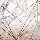 Rose Glitter steigt geo von marbleco