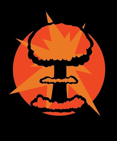 Atombomben-Pilz-Wolken-Retro- Entwurf von 2catminimum