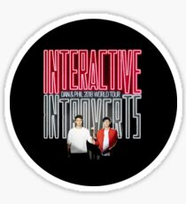 Dan And Phil - Interactive Introverts Sticker