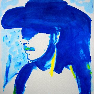 Naughty Boy Blue and White Cowboy Zorro by RDRiccoboni