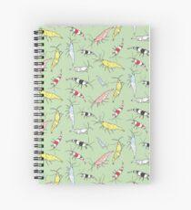 Cuaderno de espiral Patrón de camarón de acuario