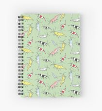Aquarium Shrimp Pattern Spiral Notebook