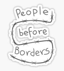Menschen vor Grenzen Sticker