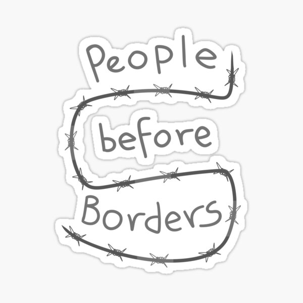 People Before Borders Sticker