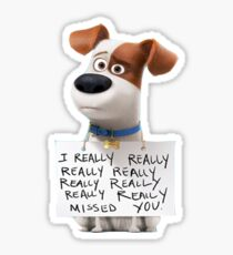 The secret life of pets Max Sticker