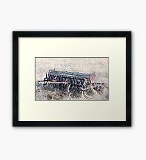 Antique Grain Seeder 1925 - 1926 JD VAN BRUNDT Framed Print