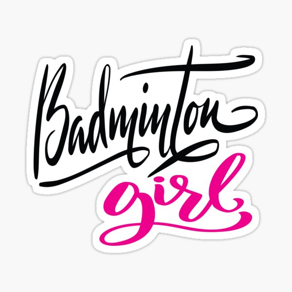 Badminton Girl Sticker