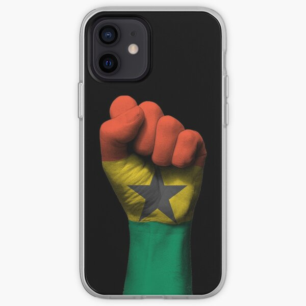 Flag of Ghana on a Raised Clenched Fist  iPhone Soft Case