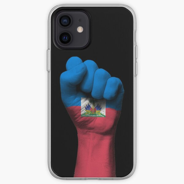 Flag of Haiti on a Raised Clenched Fist  iPhone Soft Case