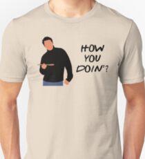 Wie geht's? (Schwarz) Slim Fit T-Shirt