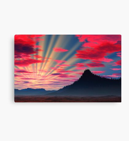 Northern Sunset Canvas Print