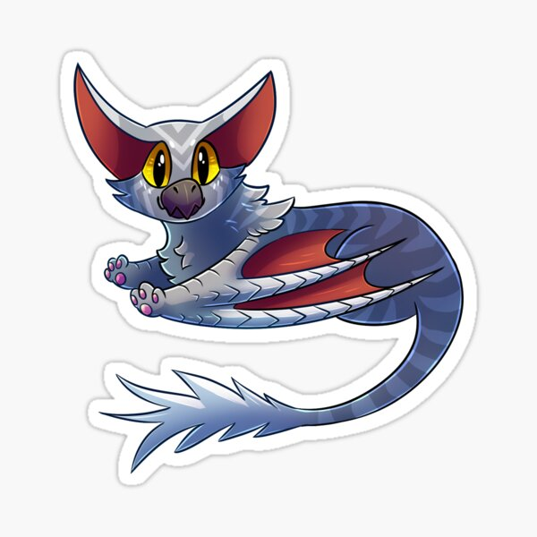 Silver Deathkitty Sticker