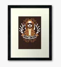 The Dude Abides Framed Print