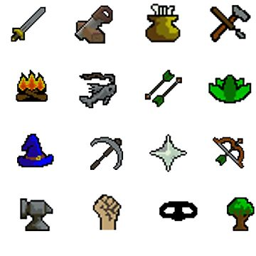 Oldschool Runescape Skill Stickers by Sir-Jamus