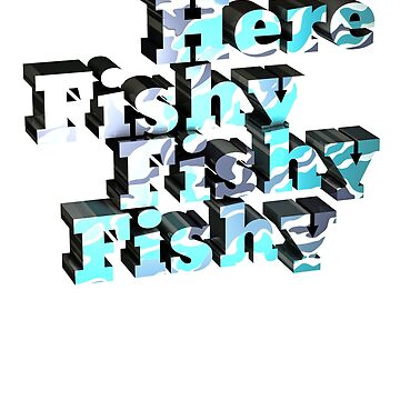 """""""Here Fishy"""" Camouflage Type Design by MarkusShirts"""