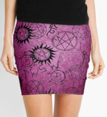 Supernatural Dark Pink Mini Skirt