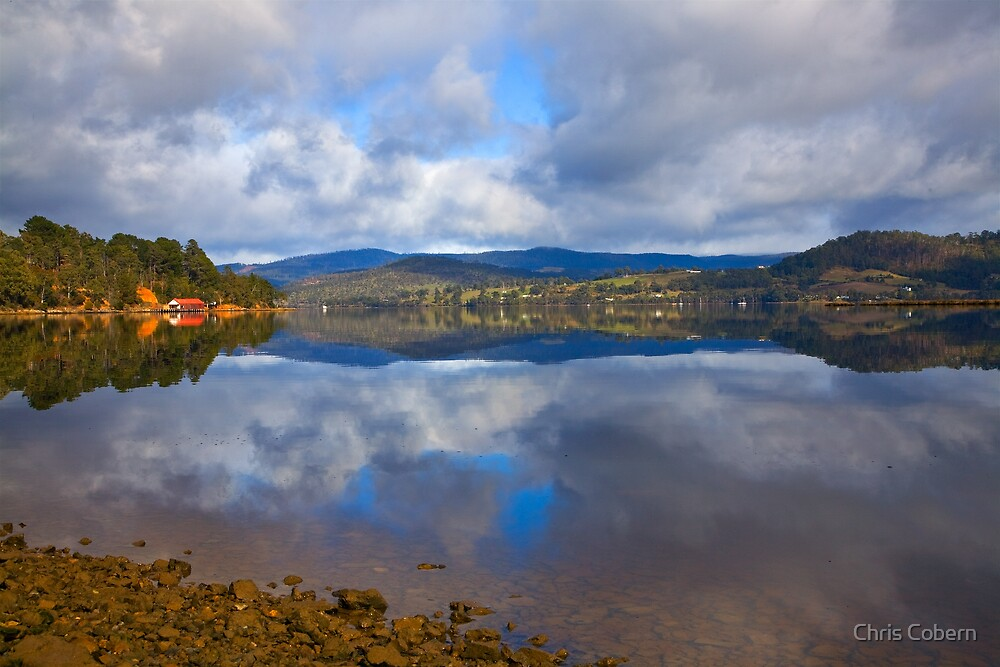 Glaziers Bay reflections by Chris Cobern
