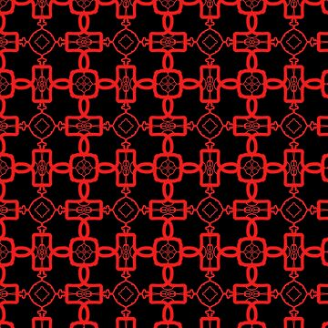 Red and Black Celtic Cross Pattern by BHDigitalArt