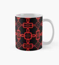 Red and Black Celtic Cross Pattern Classic Mug