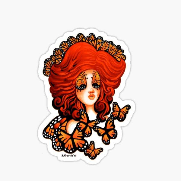 Monarch Beauty Butterfly Fairy The Art Of Stephanie Ann Garcia Sticker