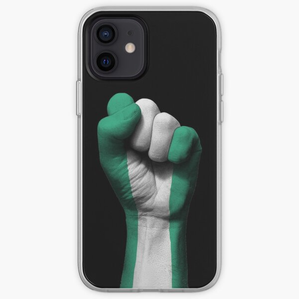 Flag of Nigeria on a Raised Clenched Fist  iPhone Soft Case