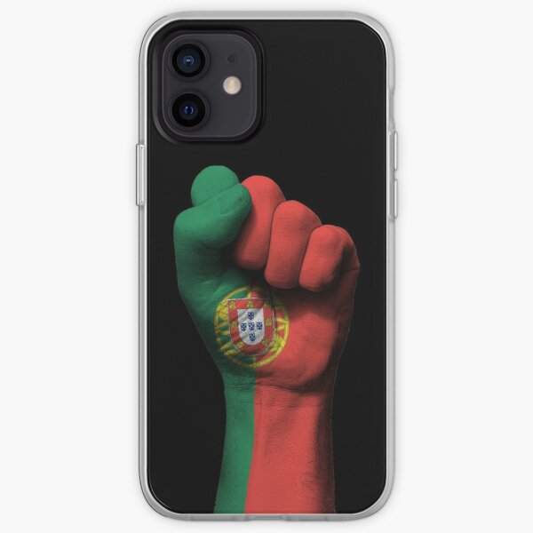 Flag of Portugal on a Raised Clenched Fist  iPhone Soft Case