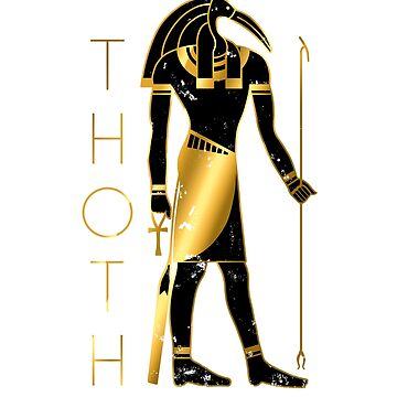 Thoth - Black and Gold by polygrafix