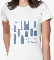 Unusual Japanese architecture. Travel and leisure. Women's Fitted T-Shirt