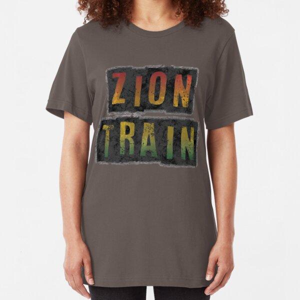 zion train Slim Fit T-Shirt